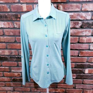 Prana Striped Kinley Button-front Shirt UPF 50+